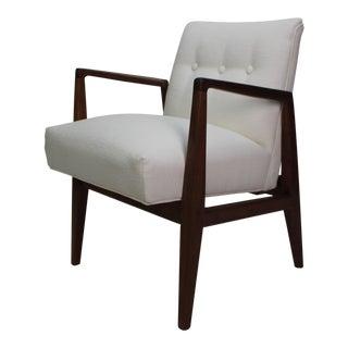 Jens Risom Designed Walnut Armchair For Sale