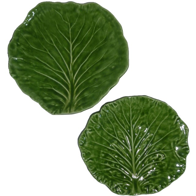 Barbara Eigen Cabbage Leaf Dishes - A Pair For Sale