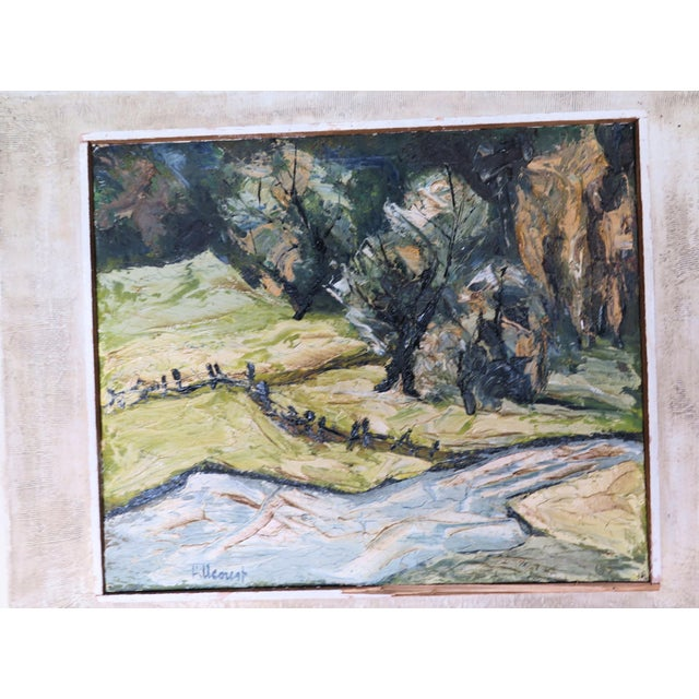 "Camille Pissarro Impressionist Oil by Listed Artist "" Jan Hillcourt"" For Sale - Image 4 of 5"