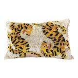 Image of Silk Velvet Hand Loomed Lumbar Accent Pillow For Sale