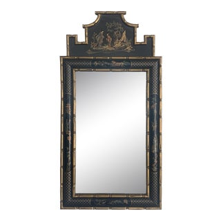 Vintage Chinoiserie Wall Mirror For Sale
