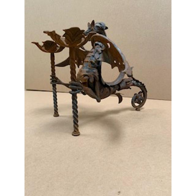 Gothic Iron Wall Scone Candle Holder For Sale - Image 3 of 8