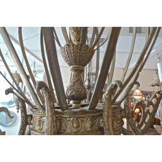 French 19th Century Gold Painted Metal Chandelier With 8 Outer Lights Preview