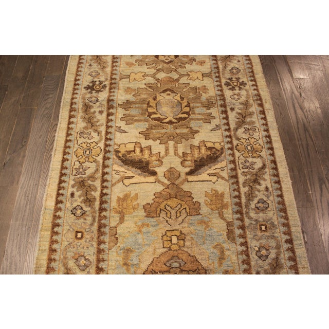 """Persian Sultanabad Rug - 3'2"""" x 13'9"""" - Image 9 of 10"""