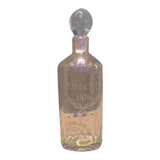 American Diminutive Glass Decanter Dated 1876 For Sale