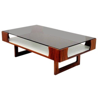 1970s Mid-Century Modern Torbjorn Afdal for Bruksbo Rosewood Coffee Table For Sale