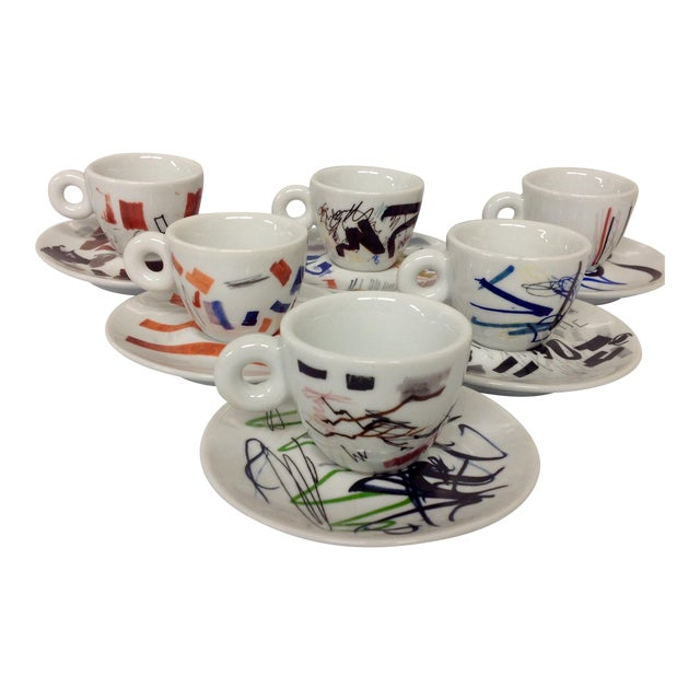 Padraig Timoney Illy Espresso Cups - Set of 6 - Image 1 of 6