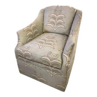 Vanguard Abigail Chair in Robert Allen Fabric For Sale