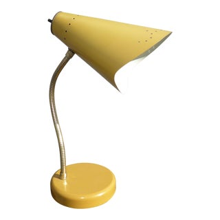 Mid-Century Modern Yellow Adjustable Table Lamp
