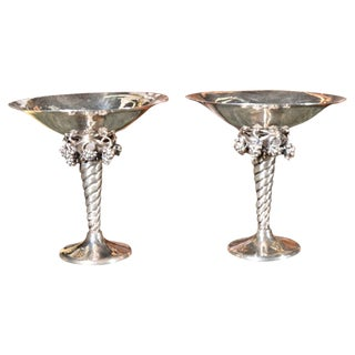Pair of Sterling Silver Tazzas For Sale