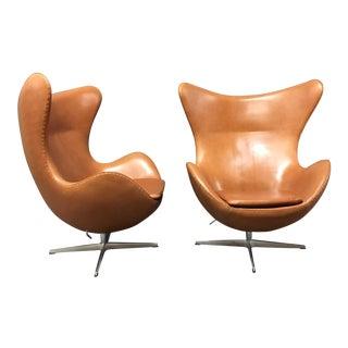 Arne Jacobsen for Fritz Hansen Egg Chairs - A Pair For Sale
