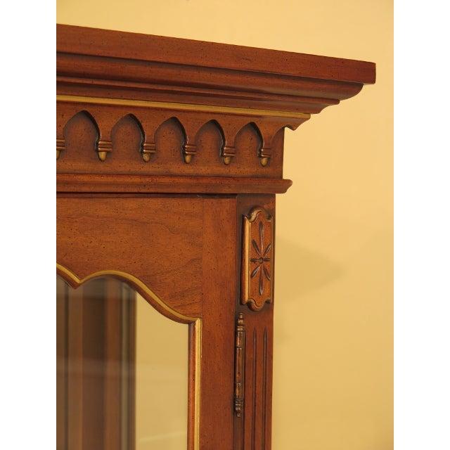 Louis XVI-Style Walnut Vitrine Curio Cabinet - Image 4 of 11