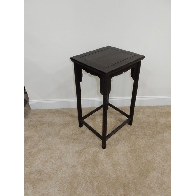 Antique Chinese Zitan Wood Side Table - Image 3 of 11
