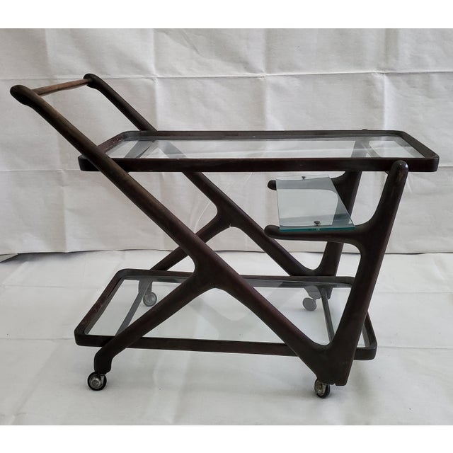 1950s Italian Mid-Century Modern Serving Bar Cart - in Manner of Ico Parisi For Sale - Image 12 of 12