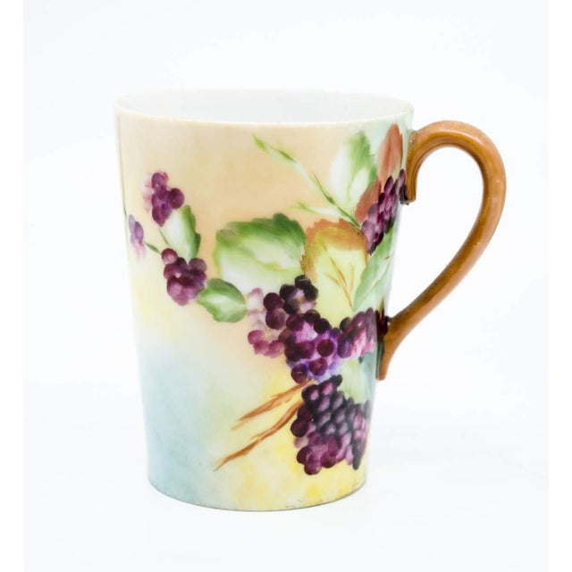 20th C. Victorian Pitcher, Plate and Glasses Grape Motif by Limoges - Set of 8 For Sale - Image 11 of 13