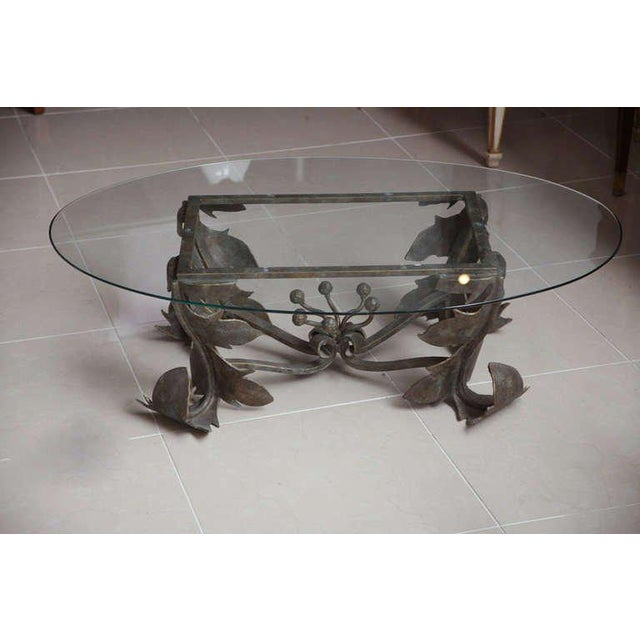 Mid-Century Modern Hand-Forged Low Table For Sale - Image 3 of 10