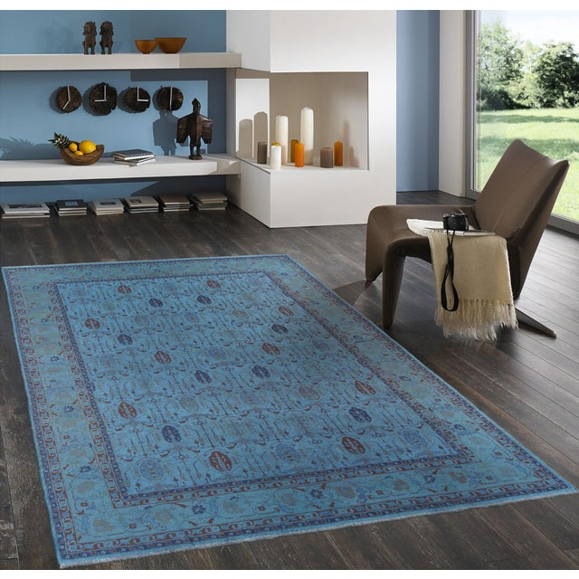 Over-Dyed Afghan Kilim Weave Rug - 10' x 13′5″ - Image 2 of 3