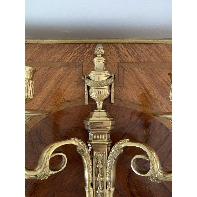 Neoclassical Vintage Brass Neoclassical Style Candle Sconce For Sale - Image 3 of 7