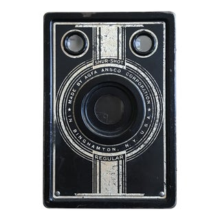 Vintage Black and Gold Camera For Sale