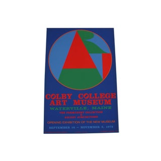 "Robert Indiana 1973 ""Colby College Art Museum"" Serigraph Poster For Sale"