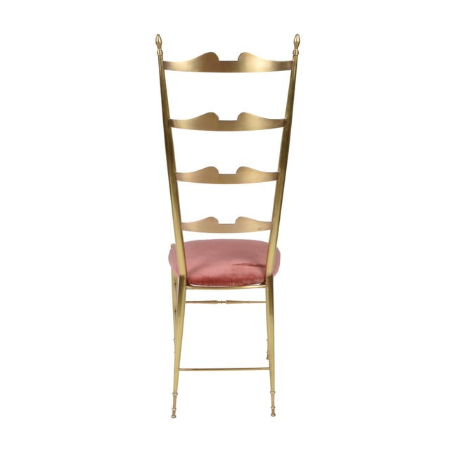 Italian Chiavari Bronze High Back Chairs, a Pair For Sale - Image 10 of 12