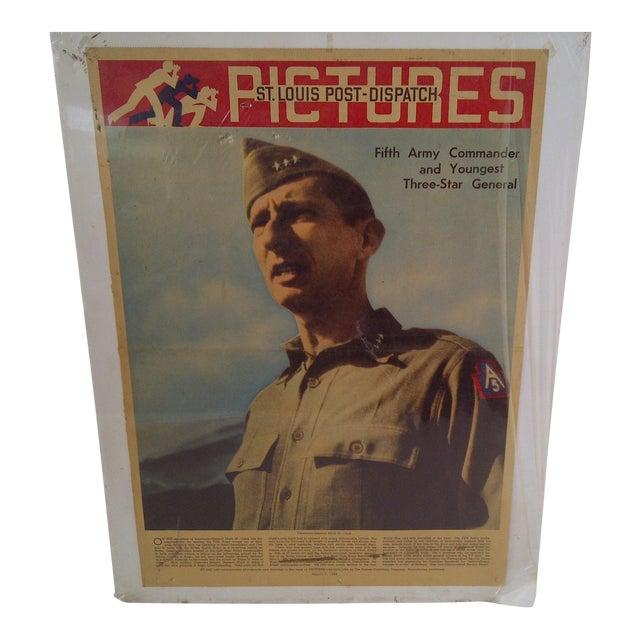 Vintage World War II News Print For Sale
