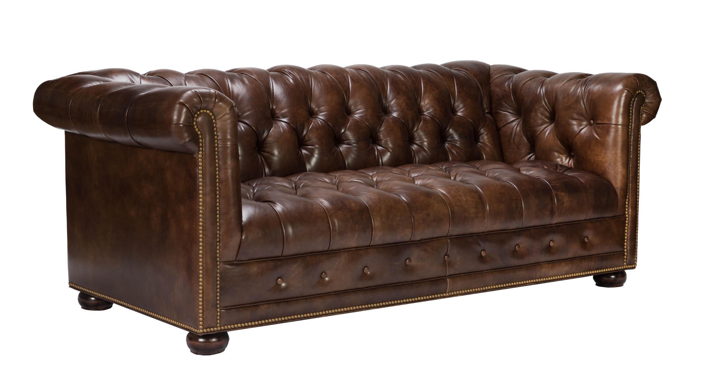 Hancock& Moore Kent Chesterfield Leather Sofa Chairish
