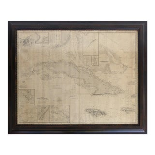 1894 Antique Map of Cuba by Cartographer James Imray & Son of London For Sale