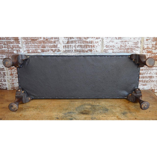 Late 19th Century Queen Anne Style Upholstered Long Footstool For Sale In Greenville, SC - Image 6 of 13