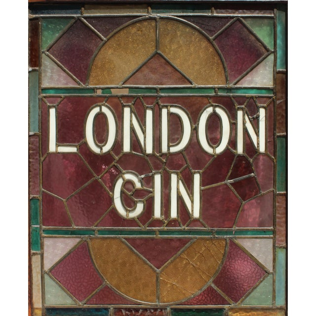 1920s Vintage English Pub Stained Glass - a Pair For Sale - Image 4 of 7