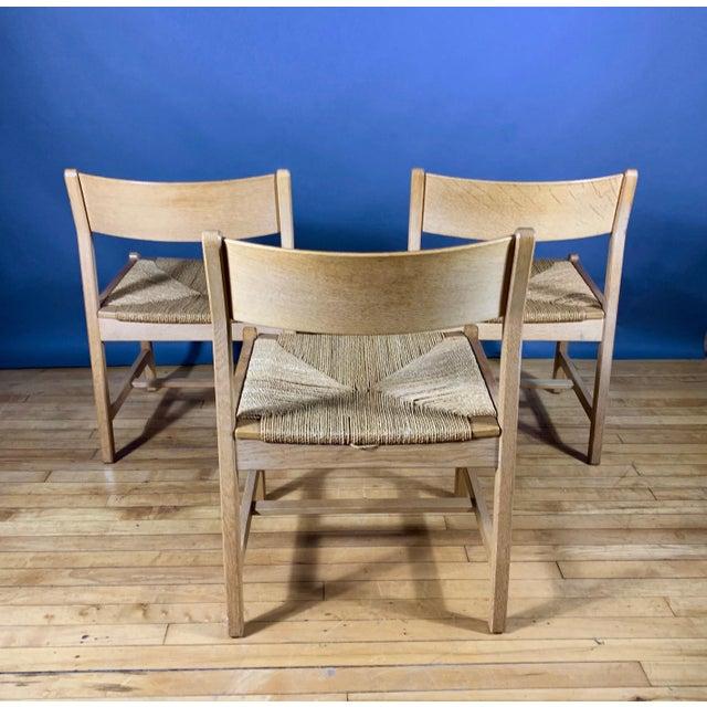 1960s Børge Mogensen Bm2 Oak & Papercord Dining Chairs, Denmark 1960s For Sale - Image 5 of 13