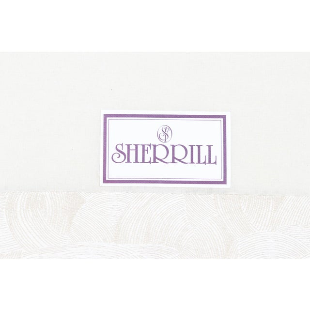 Sherrill Mid Century Style Tuxedo Sofa in Cream - Image 7 of 8