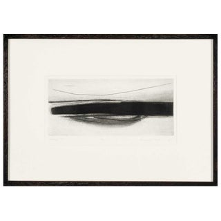 """1970s Margaret Taylor """"Landscape Viii"""" Black and White Abstract Etching For Sale"""