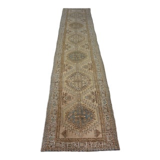 Turkish Vintage Anatolian Hand-Knotted Runner Rug For Sale
