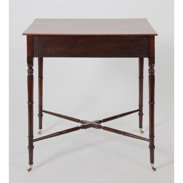 English Traditional Antique English Regency Mahogany Writing Desk For Sale  - Image 3 of 9 - Antique English Regency Mahogany Writing Desk Chairish
