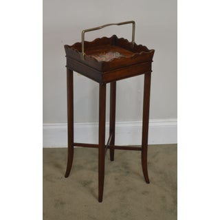 "Theodore Alexander George III Style Mahogany Square Side Table ""The Georgian Butler"" Preview"