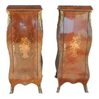 French Louis XV Style Reproduction Semanier Cabinets - A Pair For Sale