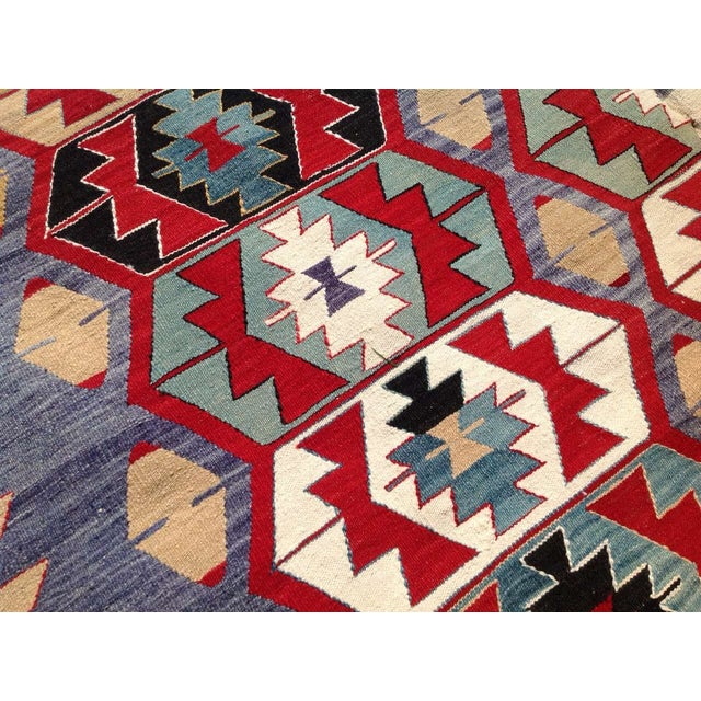 "Vintage Turkish Kilim Rug - 6'9"" x 9'3"" - Image 5 of 7"