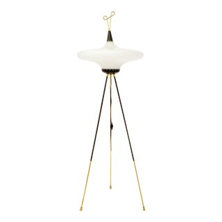 Stilnovo Lacquered Brass Floor Lamp For Sale