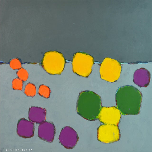 'Color Composition' Original Abstract Painting by Lars Hegelund, 25 X 25 In. For Sale
