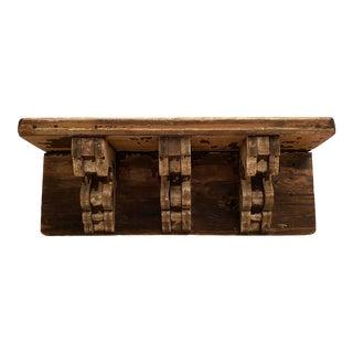 Antique Architectural Fragment Pediment Shelf For Sale