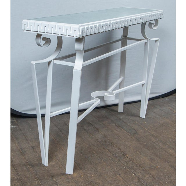 Metal Dorothy Draper Style Wrought Iron Console For Sale - Image 7 of 11