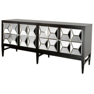 Contemporary Wooden & Glass Spike Sideboard For Sale