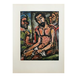 """1950s Georges Rouault, """"Christ Mocked by Soldiers"""" Original Period Lithograph For Sale"""
