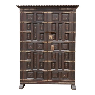 Striking Spanish Castilla Armoire For Sale