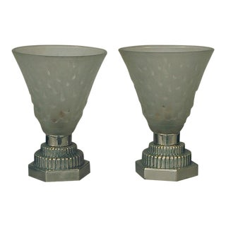 1920s French Art Deco Table Lamps by Muller Freres - a Pair For Sale