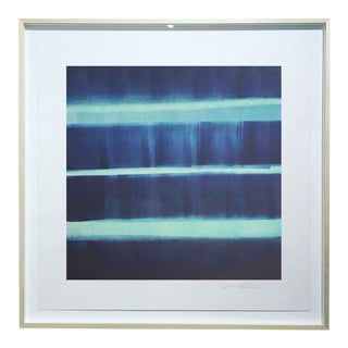 """Sound and Vision"" Monotype on Rives Bfk Paper Print by Karen J Revis For Sale"