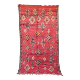 "Boujad Vintage Moroccan Rug, 6'7"" x 11'3"" feet / 200 x 344 cm"