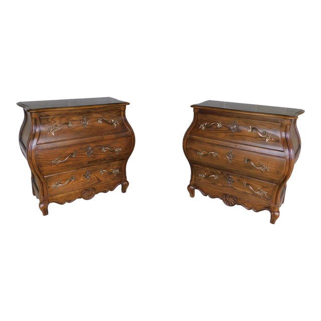 """Baker French Louis XV Style Bombe Chests - a Pair 31""""w X 30""""h For Sale"""
