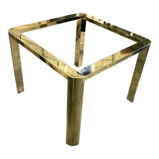 1970s Mid-Century Modern Karl Springer Brass Game Table For Sale